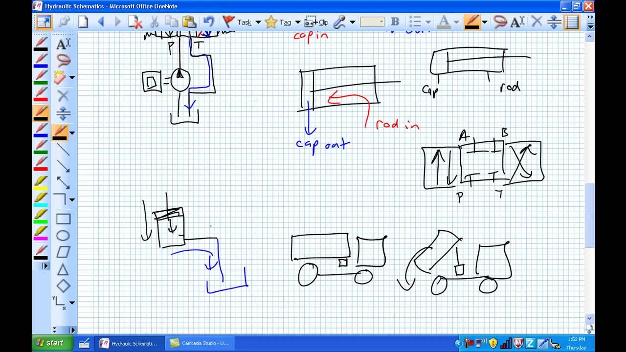 Basic Hydraulic Schematics Youtube Diagram Electrical Circuit Drawing Software As Well Simple