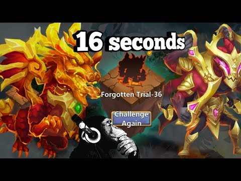 Forgotten Trial | 36 | 16 Seconds Flat | Castle Clash