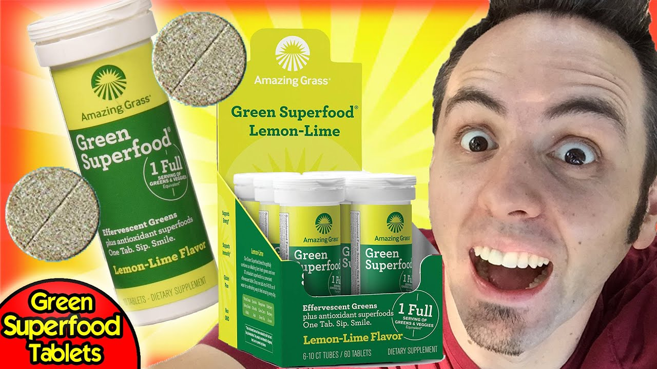 GREEN SUPERFOOD TABLETS   Amazing Grass Superfood Tablets Taste Test & Review