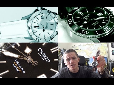Christopher Ward C60 Trident Pro 600 - 38mm Ceramic Automatic Diver Watch Review - C60-38-AUTO-SKKK