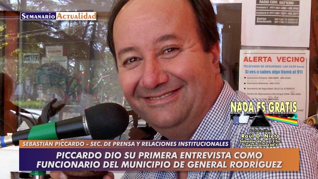 Sebastián Piccardo dio su primera entrevista como funcionario del Municipio de General Rodríguez