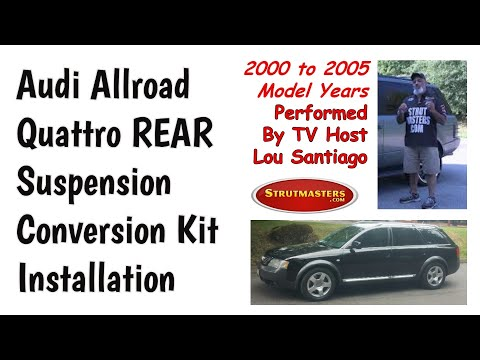 How To Replace The Rear Strut On An Audi Allroad Quattro By Lou Santiago