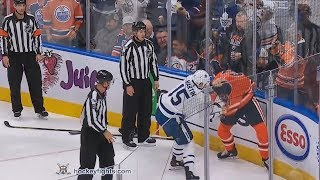 Matt Martin vs Zack Kassian Nov 30, 2017