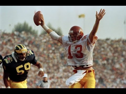 1990 Rose Bowl #3 Michigan vs #12 USC No Huddle - YouTube