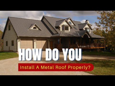 Diy Metal Roofing Roof Installation Amp Proper Ventilation Youtube
