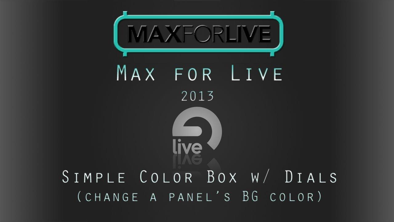 Max 4 Live