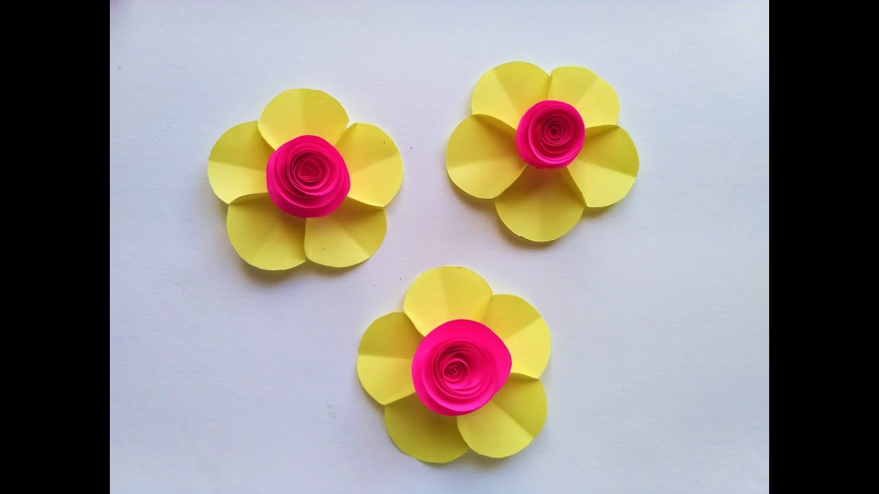 How To Make Flowers With Sticky Notes Youtube