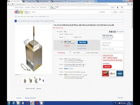 Microwave Gold or Silver Melting Furnace