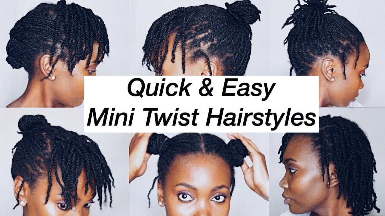 How To Style Mini Twists 6 Quick Easy Hairstyles 4c Natural Hair Botswana Youtuber Youtube