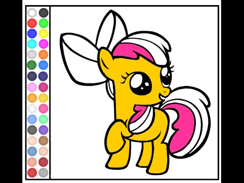 My Little Pony Games - My Little Pony Coloring Games - YouTube