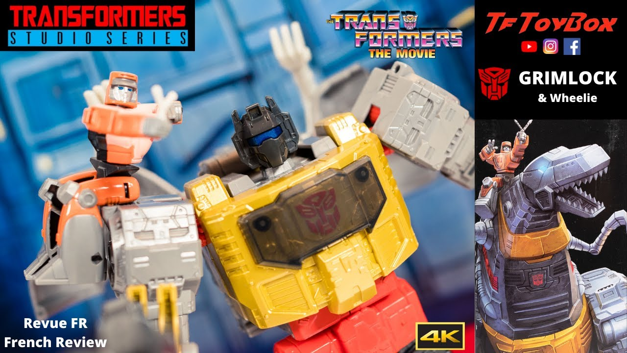 Transformers Studio Series 86 Grimlock and Wheelie Review by TfToyBox
