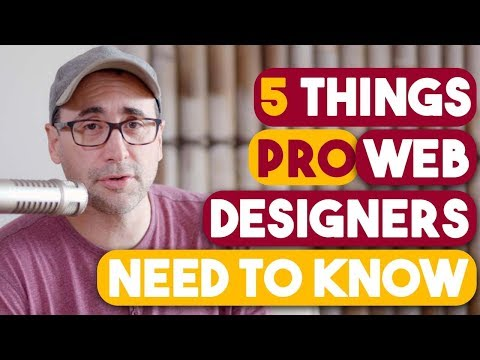 5 Things Pro Web Designers Need to Know.