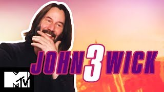 Keanu Reeves On Iconic John Wick Fight Scenes & Marvel Universe | MTV Movies