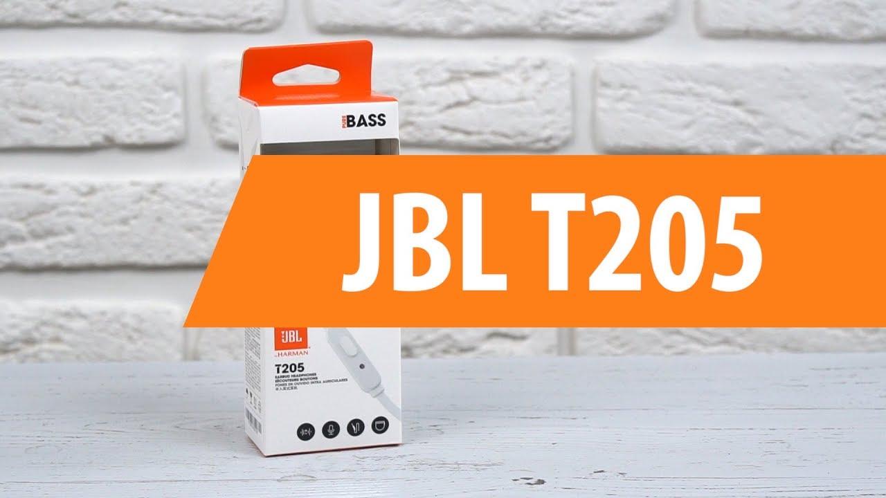 1fed7491036 Распаковка JBL T205 / Unboxing JBL T205 - YouTube