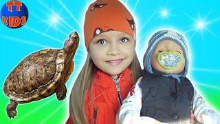 Влог Путешествие с Питомцами и Куклой Беби Бон к Бабушке Видео для детей
