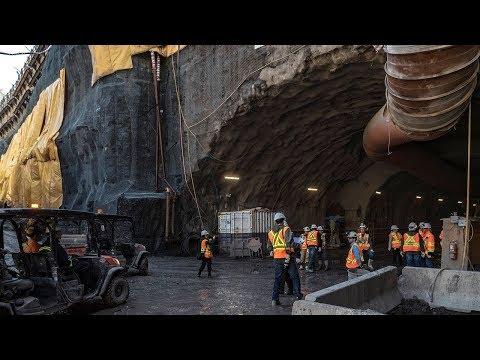 Building Montreal's new métro garage 30 metres underground