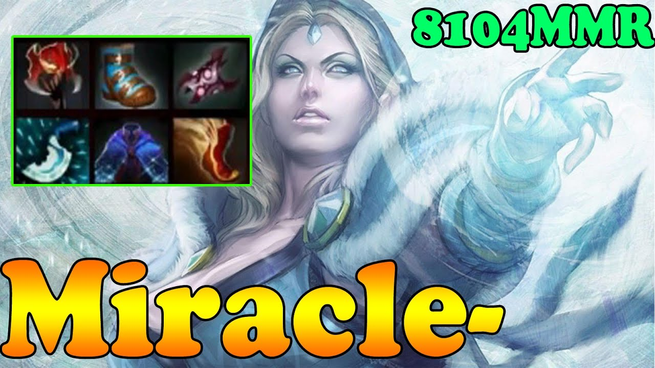 Dota 2 Miracle 8104MMR TOP 1 MMR In The World Plays
