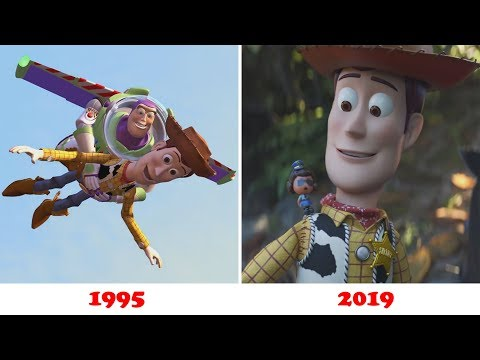 Evolution of Toy Story 1,2,3,4 (1995 - 2019)