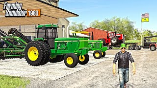 BUYING 80'S FARM EQUIPMENT IN IOWA! & MEETING NEIGHBORS (ROLEPLAY) | FARMING SIMULATOR 1980'S