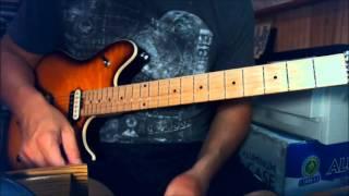 Ozzy / Jake E Lee - Secret Loser - Guitar lesson - post solo harmonics