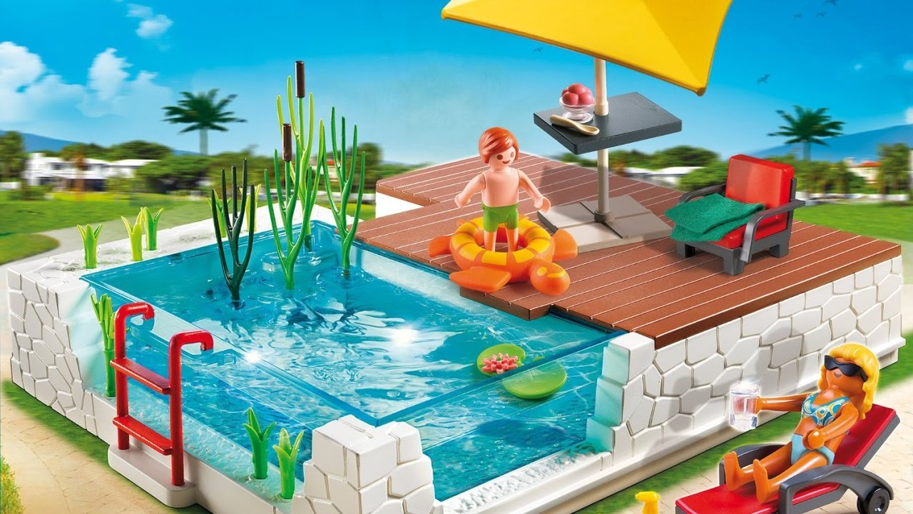Playmobil la piscine en francais youtube for Piscine playmobil