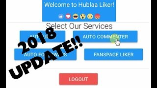HUBLAA LIKER LATEST UPDATE!! Easy way to Login || auto commenter | Now Get Unlimited Likes,comments