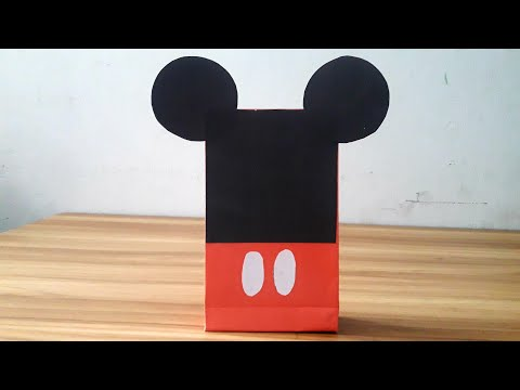 How to make Paper Mickey Mouse Gift Bag