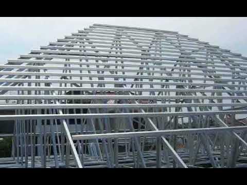 gambar rangka atap baja ringan limasan inilah cara memasang model bentuk limas youtube