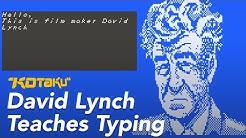 David Lynch Teaches Typing: Full Playthrough