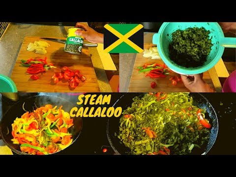 HOW TO STEAM CALLALOO | TIN CALLALOO | CANNED CALLALOO