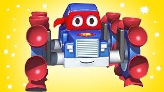 Carl el Super Camión es un escalador de lujo en Auto City   Dibujos animados para niños