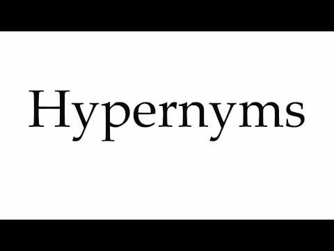 How to Pronounce Hypernyms