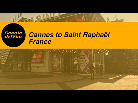 [SLOW TV] France - Côte d'Azur / French Rivera - Cannes to Saint Raphaël (1080p)
