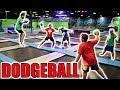 EPIC DODGEBALL GAME IN WORLD'S LARGEST TRAMPOLINE PARK!!