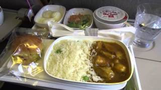 Emirates Airline food Flight Dubai to Dhaka