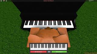Mad World - ROBLOX ( Virtual PIANO ) | Sheets in Descripition