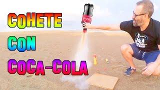 Cómo Hacer Un Cohete con Coca cola y Gas Butano - Experimentos Caseros - LlegaExperimentos