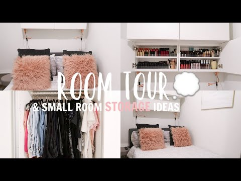 ROOM TOUR & Storage Ideas For a Small Bedroom!