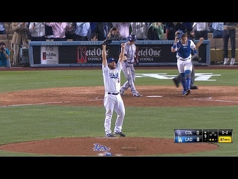 Scully calls every out of Kershaw's no-no