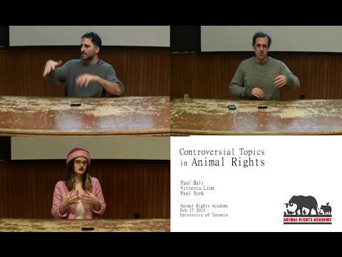 Paul Bali, Vittoria Lion, and Paul York  @ Animal Rights Academy, February 7 2015