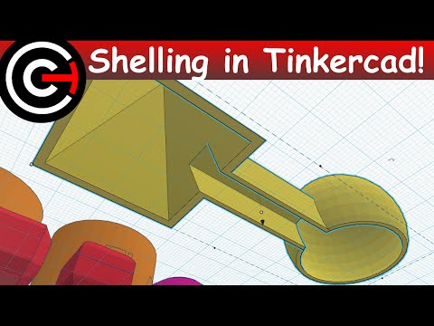 How to Hollow Out Objects in Tinkercad - Shelling Tutorial
