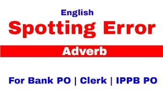 Spotting Error In English