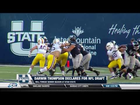 Darwin Thompson declares for NFL draft