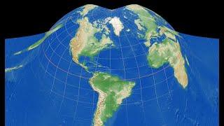 地図図法で地球変身