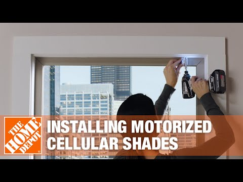 How to Install Motorized Shades   The Home Depot