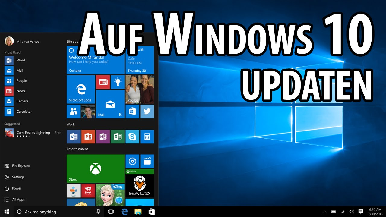 So klappt das upgrade auf windows 10 deutsch german for Window in german