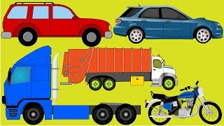 Aprender cores com veículos de transporte para crianças