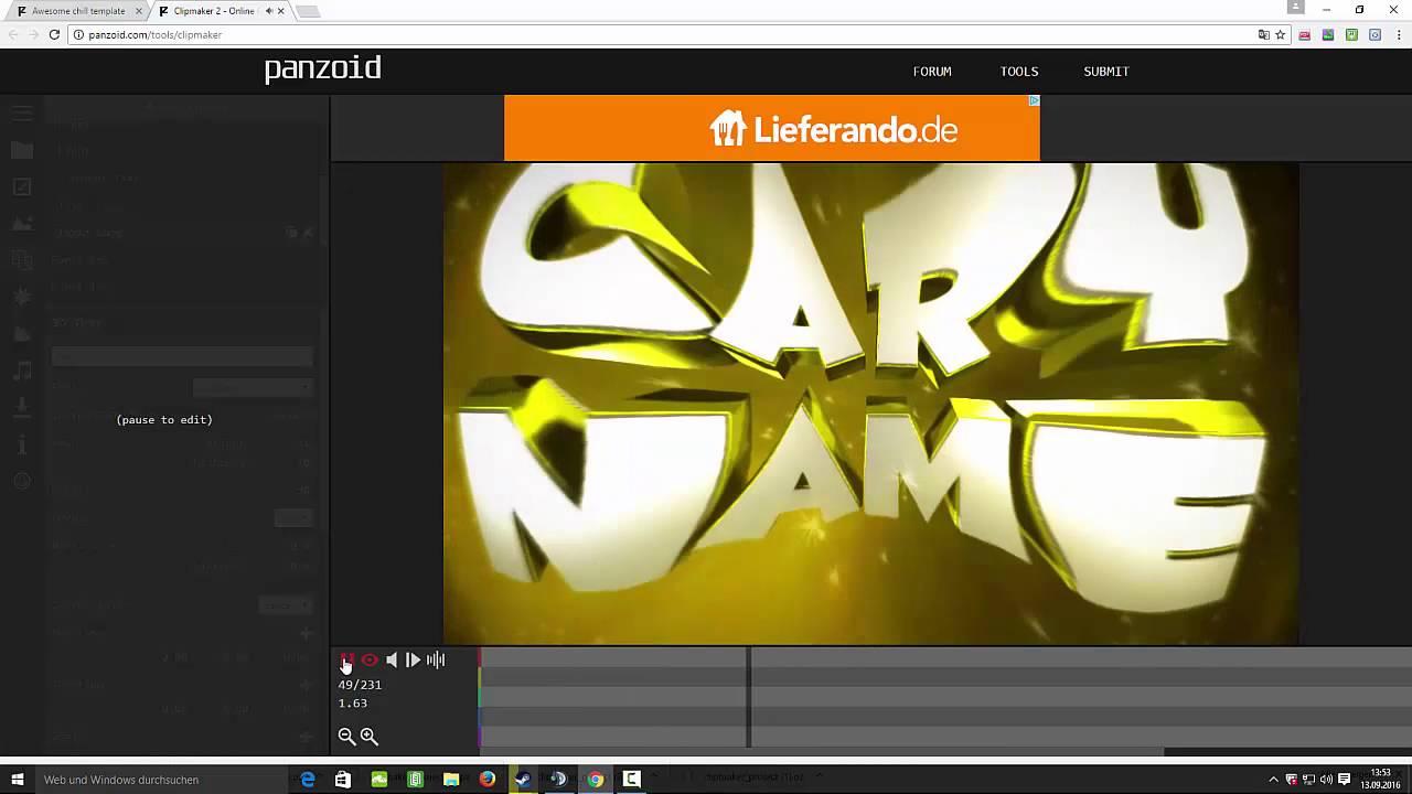 GRATIS INTRO ERSTELLEN  OHNE PROGRAMM  YouTube