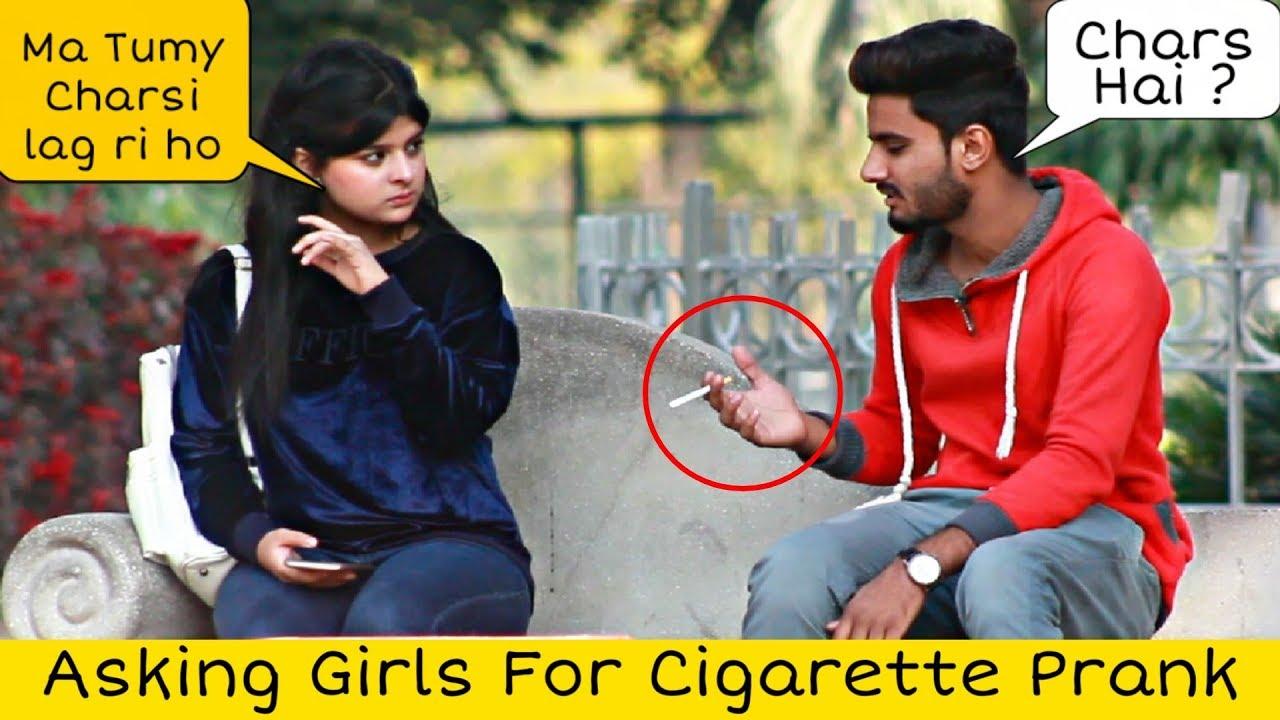 Asking Girls For Cigrette Prank Prank in Pakistan