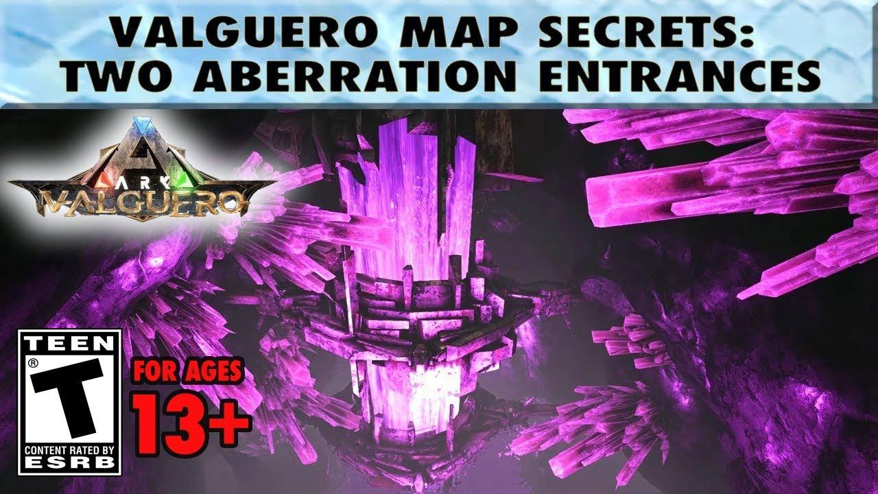 Ark Karte Valguero.Two Valguero Aberration Entrance Locations Valguero Map Secrets